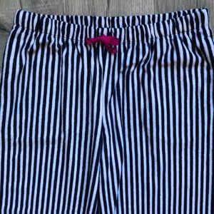 DKNY SOFT PJ Pants Only Stripe Navy White Pink SzM
